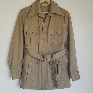 Vintage 1970s Saks Fifth Avenue safari jacket